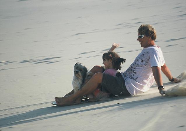 Gupster sandboarding